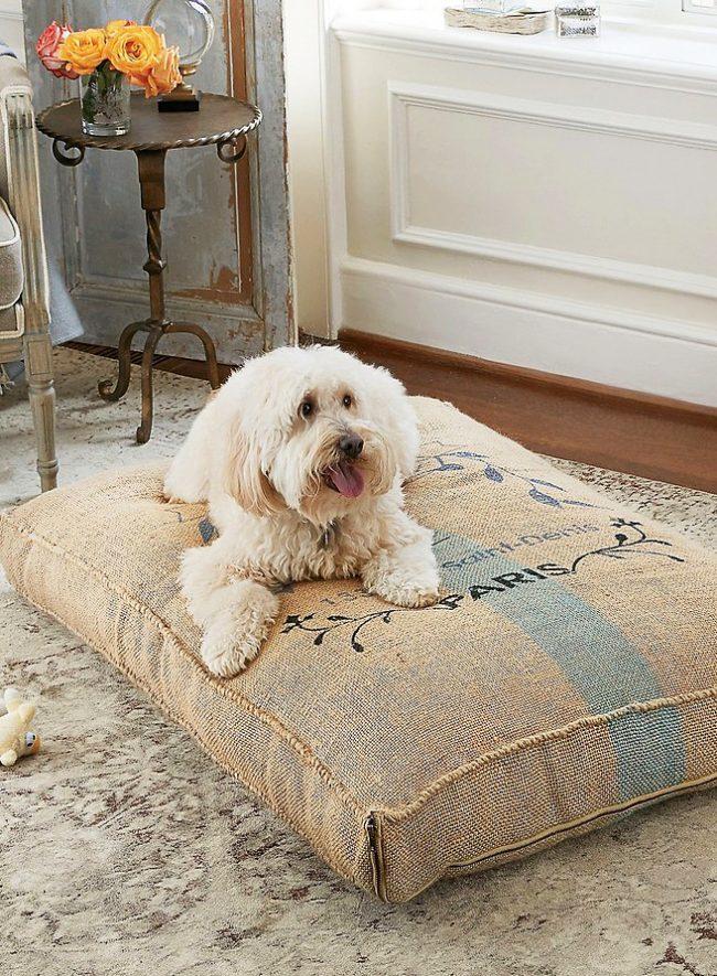 Удобная подушка для милого песика