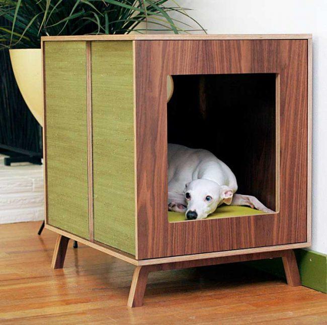 Домик-тумбочка для собаки — это сочетание стиля и функциональности