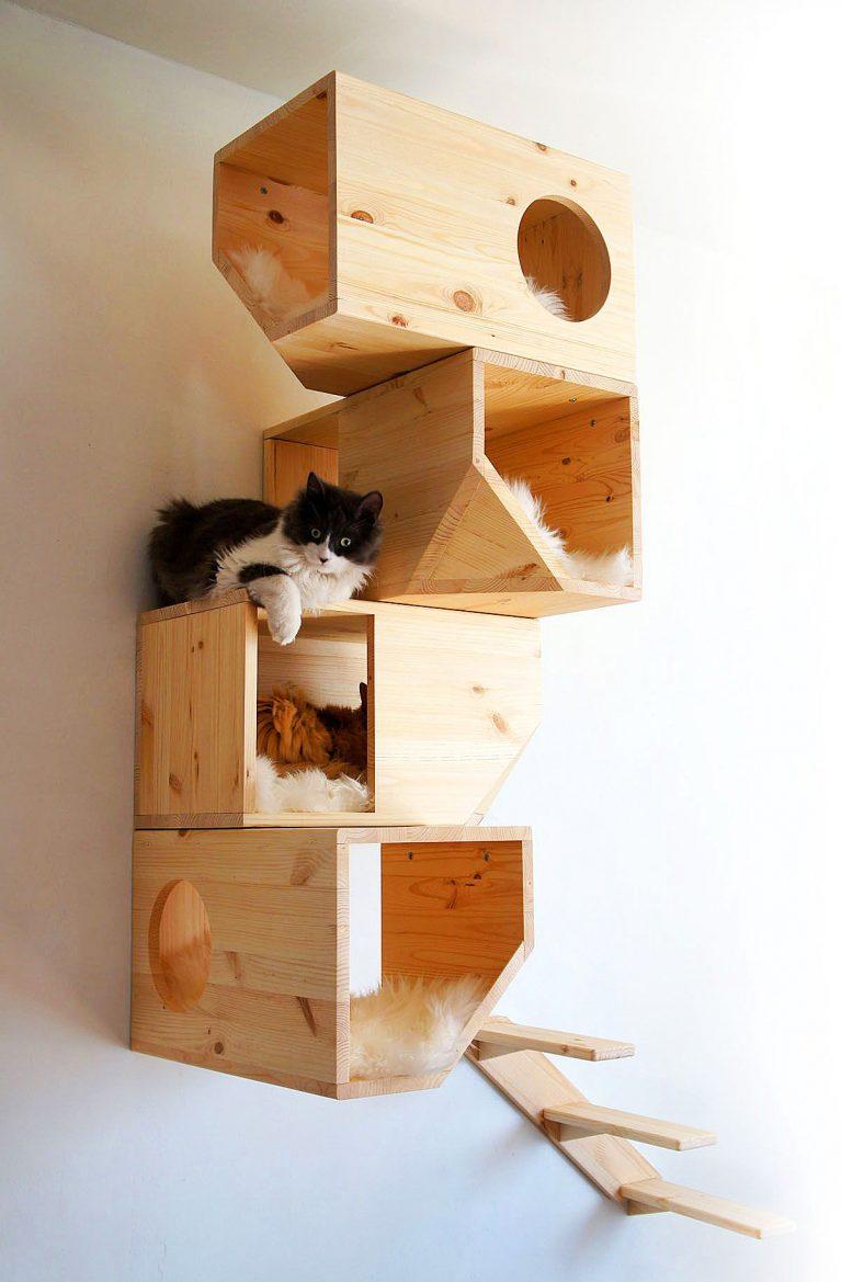 Домик для кошек из фанеры своими руками