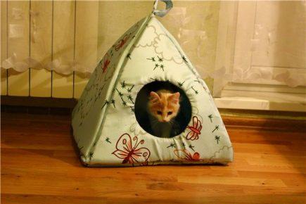 Домик для кошки своими руками из ткани