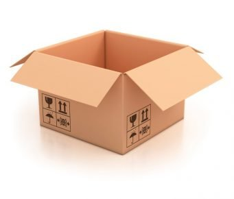 Картонная коробка для домика