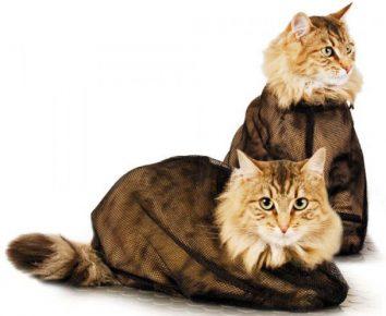 Сумка-сетка для мытья кота