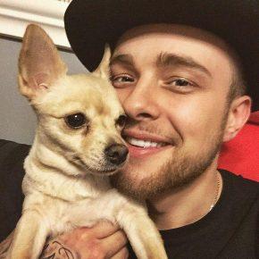 Егор Крид с собакой