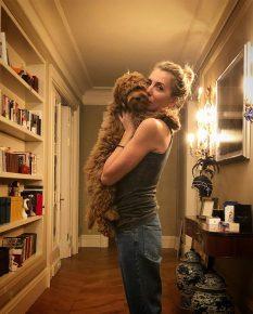 Светлана Бондарчук с собакой