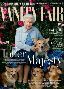 Елизавета II с собаками на обложке журнала