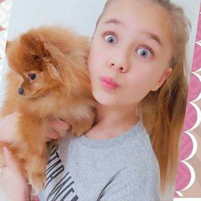 Адушкина с собакой
