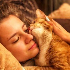 Катя с котом