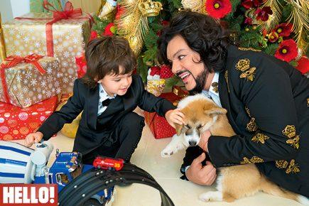 Киркоров с сыном и собакой на обложке журнала