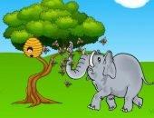 Пчёлы пугают слонов