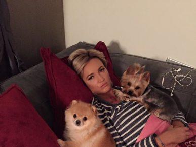 Ольга Бузова со своими собаками