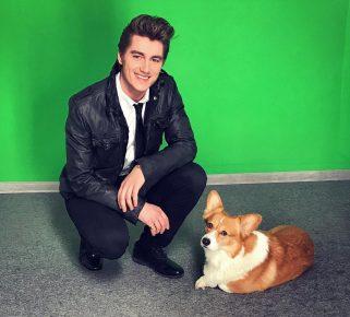Алексей Воробьёв и его собака