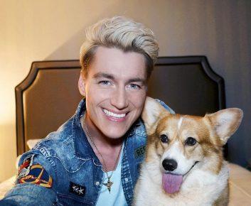 Сэлфи Алексея Воробьёва с собакой