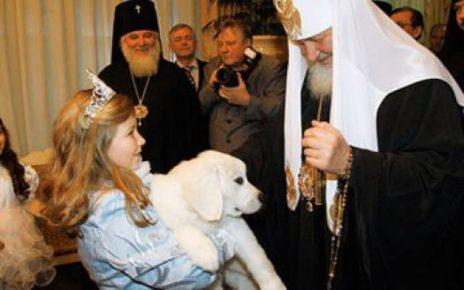 Польская подгалянская овчарка Патриарха Кирилла