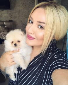 Гоар Аветисян с щенком
