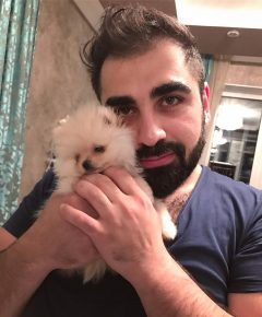 Супруг Гоар Аветисян с собакой