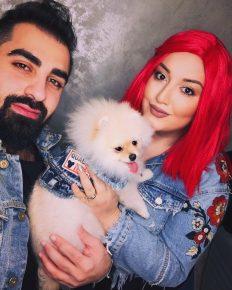 Гоар Аветисян с мужем и собакой