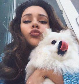 Маша с собакой