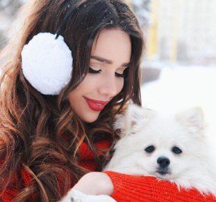 Маша со своим питомцем