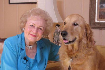 Бетти Уайт и её любимый ретривер
