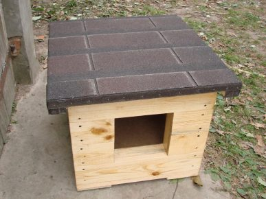 утепление крыши будки для собаки