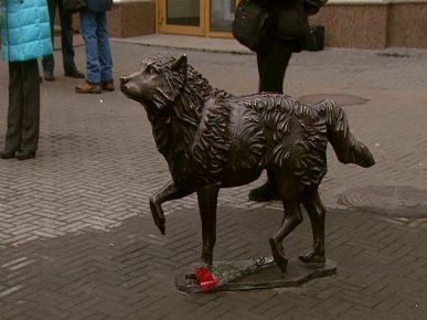 Памятник русскому «Хатико» в Челябинске