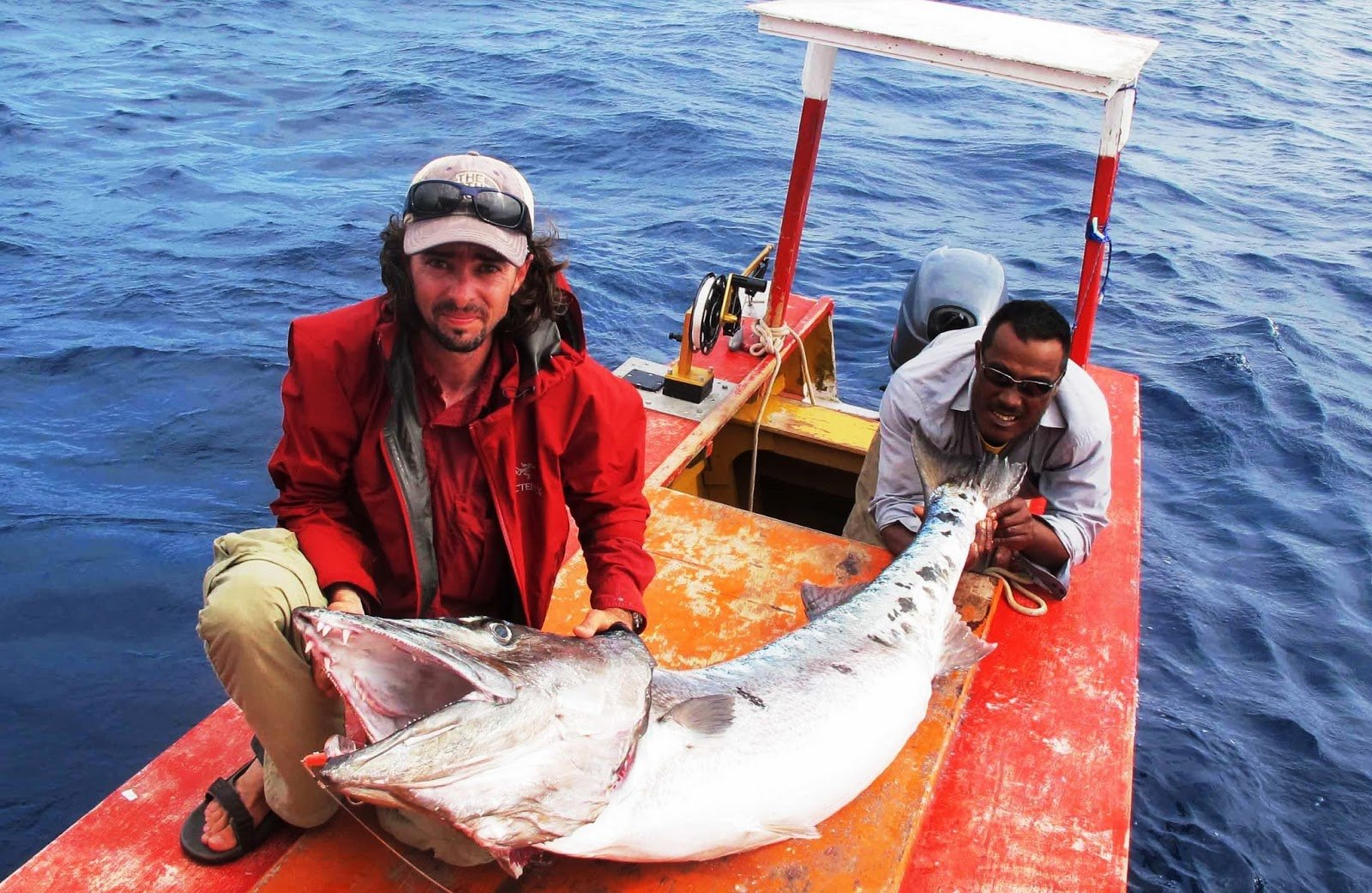 Рыбаки поймали барракуду