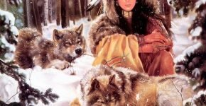 Девушка с волками