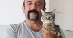 Турок спас трёхмесячного безлапого котёнка и забрал жить к себе