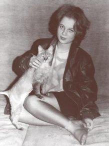 Ирина Немыкина с кошкой Читой
