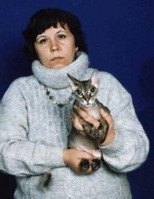 Ирина Немыкина со своим питомцем