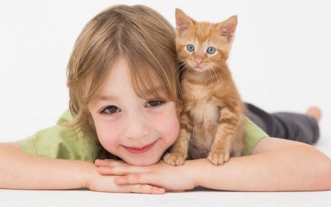 Ребёнок и котёнок