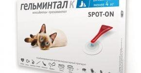 Капли от глистов для кошек Гельминтал