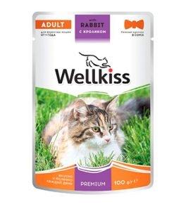 Влажный корм Wellkiss с кроликом
