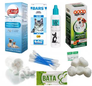 Средства для ухода за ушами кошек