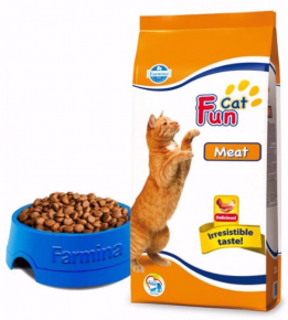 Сухой корм Fun Cat с мясом