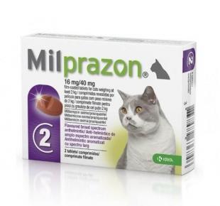 Милпразон для кошек весом более 2-х килограмм в упаковке