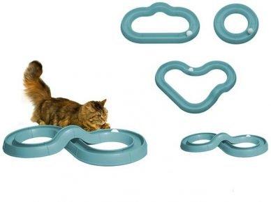 Игрушка для кота — шарик в тоннеле
