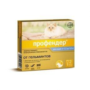 Профендер капли для питомцев массой 2,5–5кг