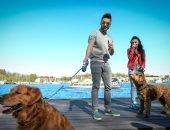 Сергей Лазарев с собакой