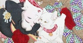 Японская гравюра — кошки