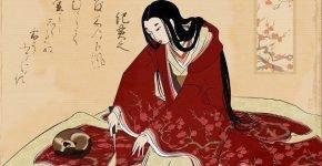 Кошка на японской гравюре