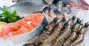 Морская сырая рыба