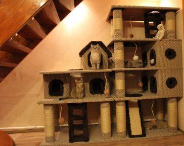Игровой кошачий дом