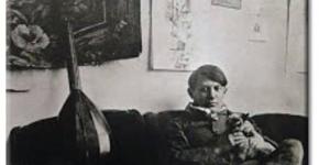Пикассо с котом
