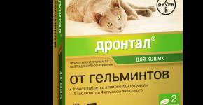 Таблетки от глистов для кошек Дронтал
