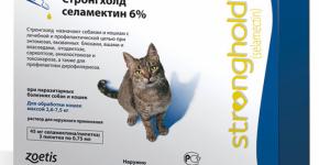 Капли на холку для кошек Стронгхолд