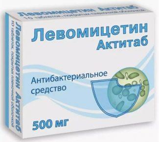 Левомицетин антибиотик в упаковке