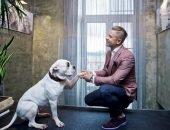 Митя Фомин с собакой