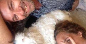 Дмитрий Маликов с женой и собакой