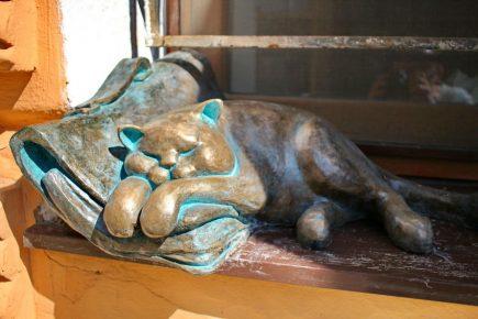 Памятник коту Морису в Одессе
